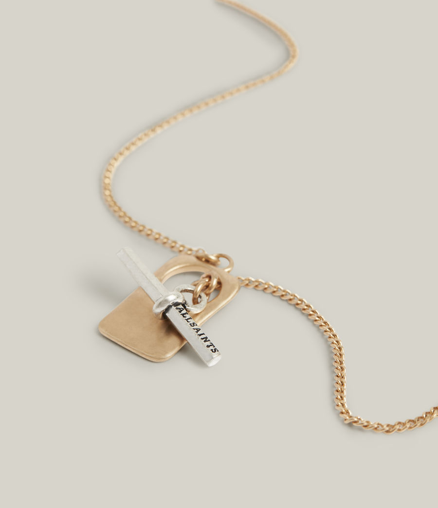 Women's Lily Necklace (warm_brass_silver) - Image 1