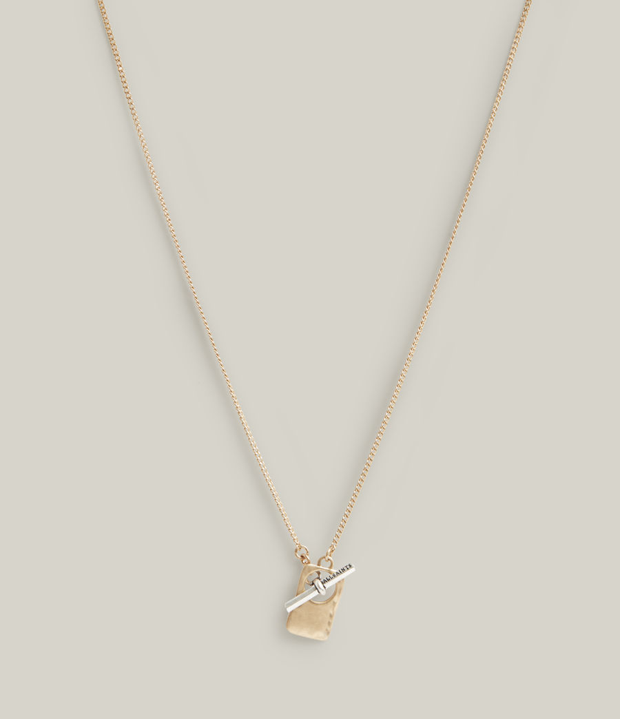 Women's Lily Necklace (warm_brass_silver) - Image 3
