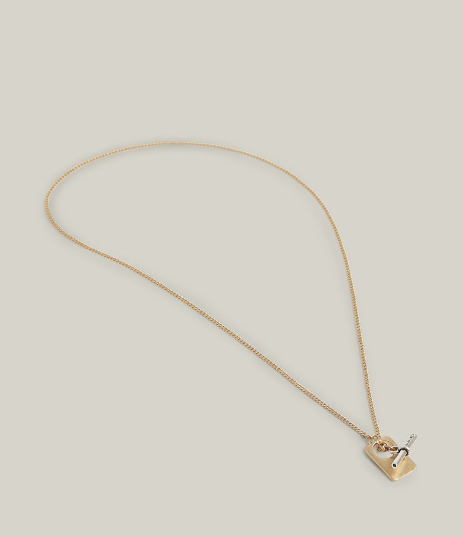 Women's Lily Necklace (warm_brass_silver) - Image 4