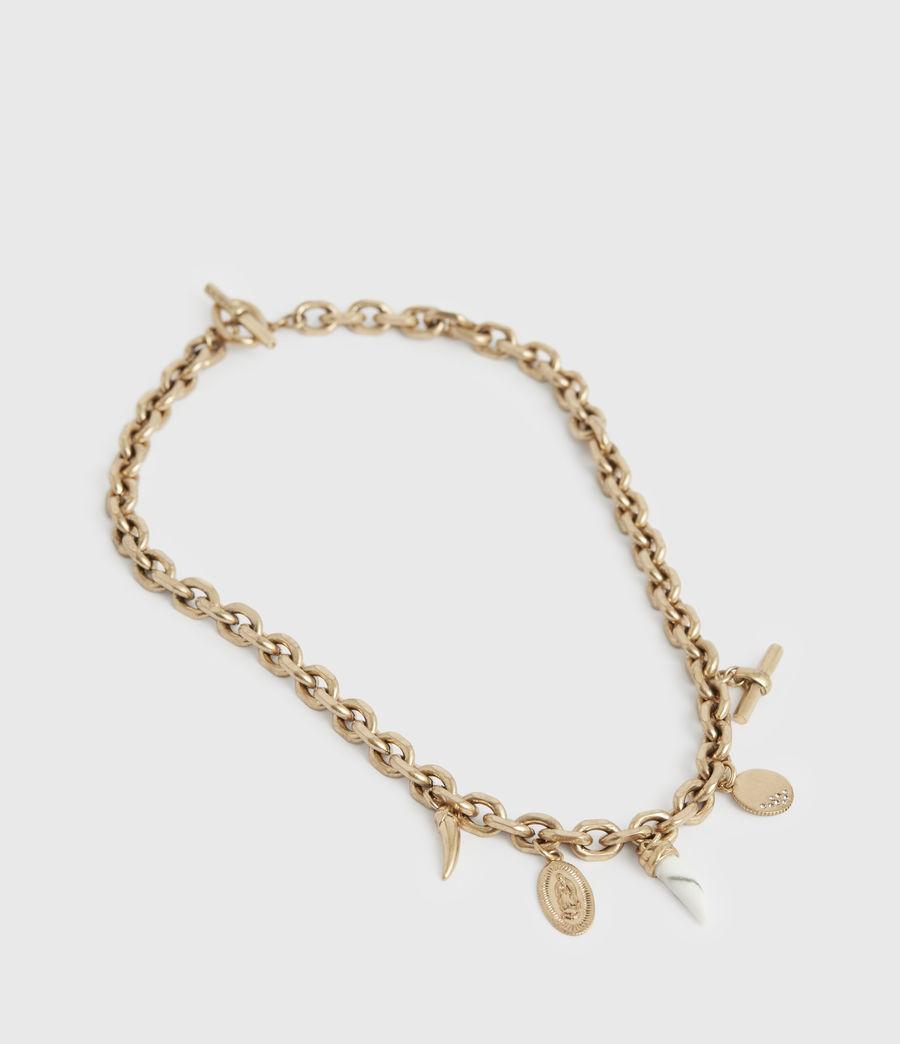 Women's Kina Gold-Tone Necklace (white_warm_brass) - Image 1