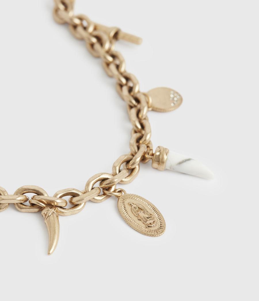 Women's Kina Gold-Tone Necklace (white_warm_brass) - Image 4
