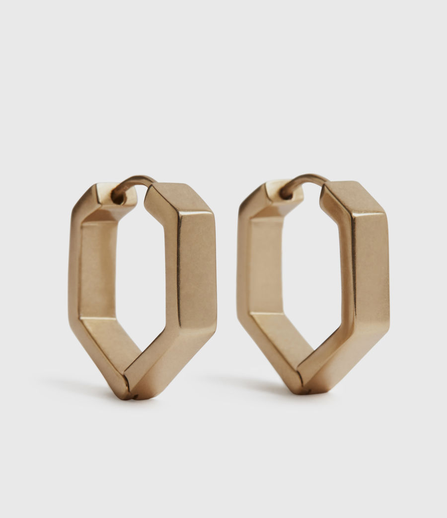 Womens Hexhoop Gold-Tone Earrings (warm_brass) - Image 1