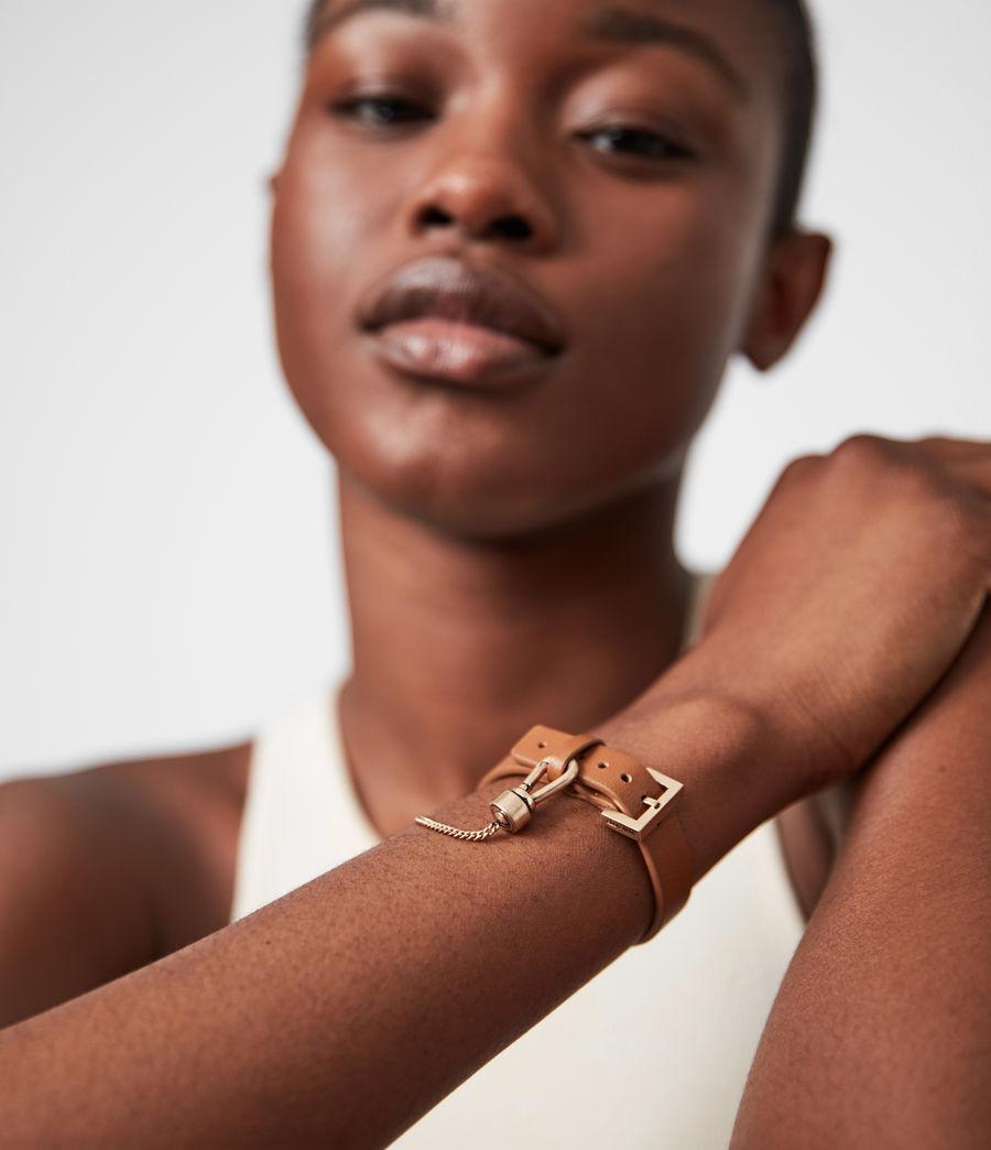 Women's Cristi Leather Bracelet (tan_warm_brass) - Image 1