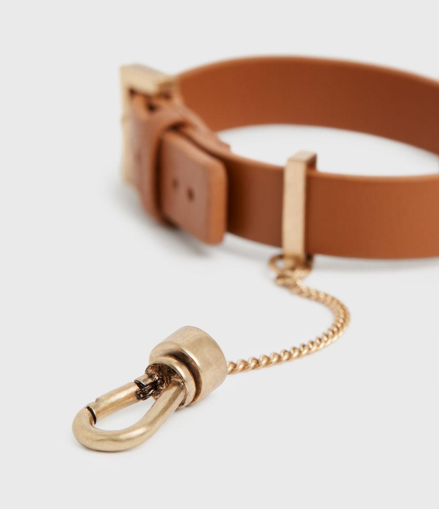 Women's Cristi Leather Bracelet (tan_warm_brass) - Image 2