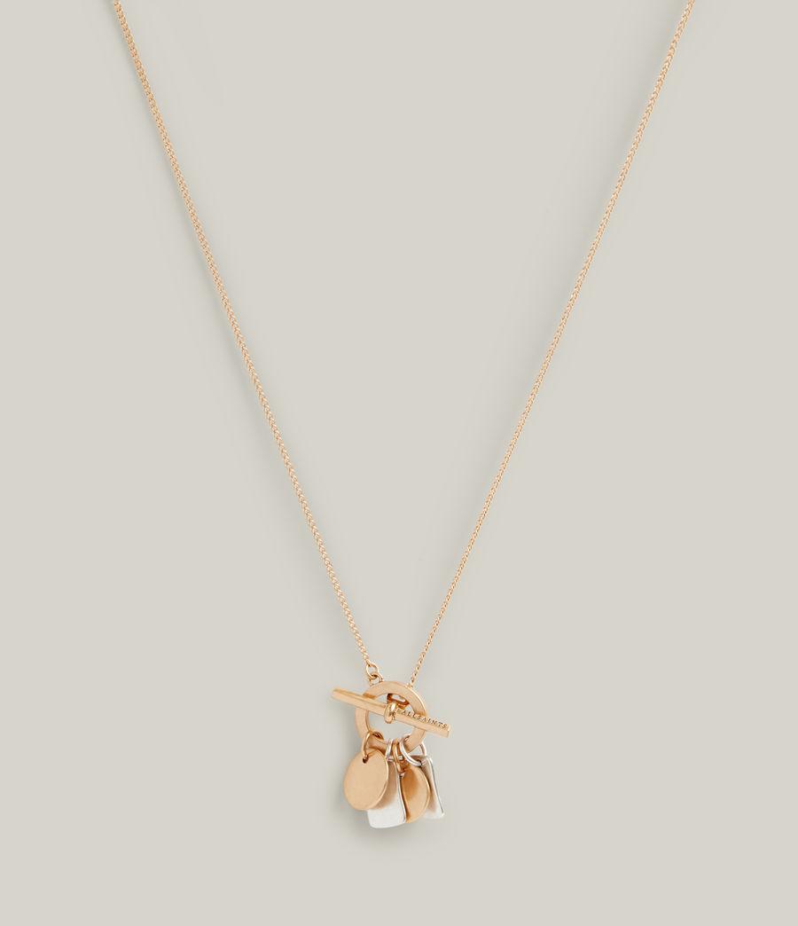 Women's Ayla Necklace (warm_brass_silver) - Image 1