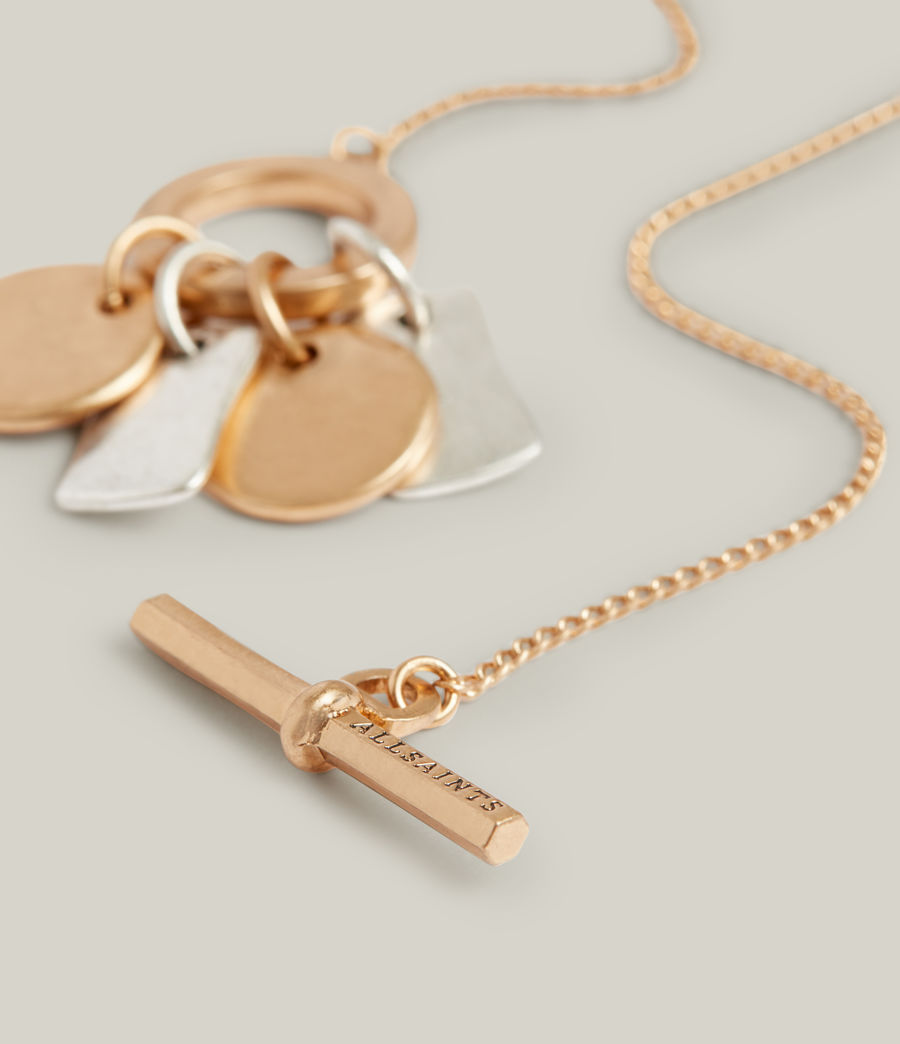 Women's Ayla Necklace (warm_brass_silver) - Image 2