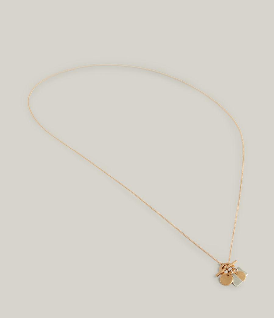 Women's Ayla Necklace (warm_brass_silver) - Image 3