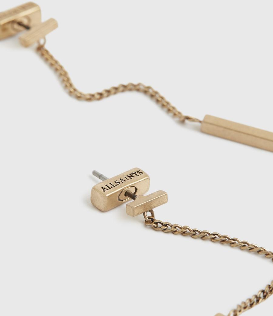 Womens Mia Gold-Tone Drop Earrings (warm_brass) - Image 1