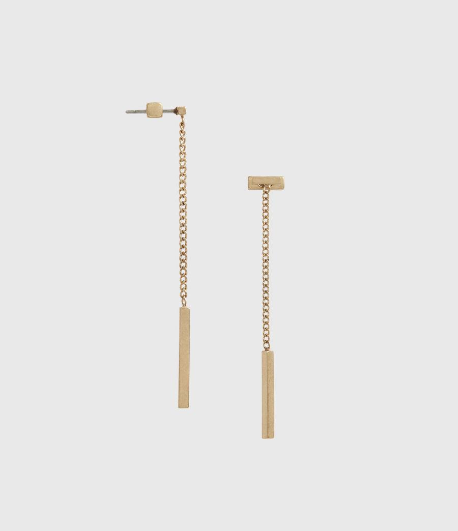 Womens Mia Gold-Tone Drop Earrings (warm_brass) - Image 2