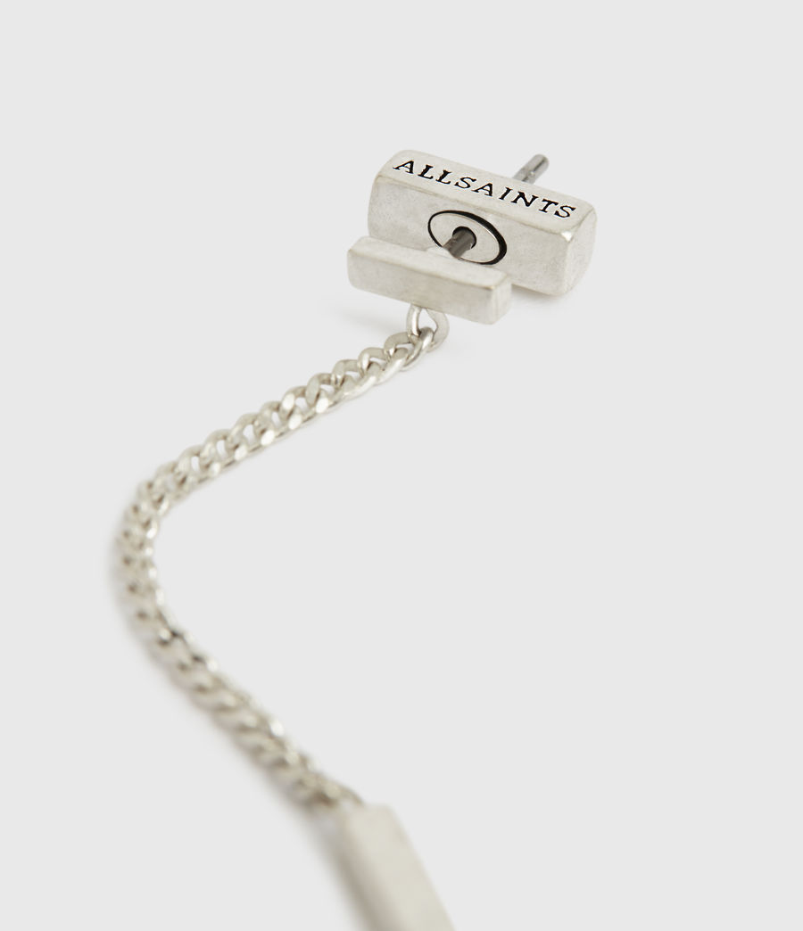Womens Mia Silver-Tone Drop Earrings (warm_silver) - Image 3