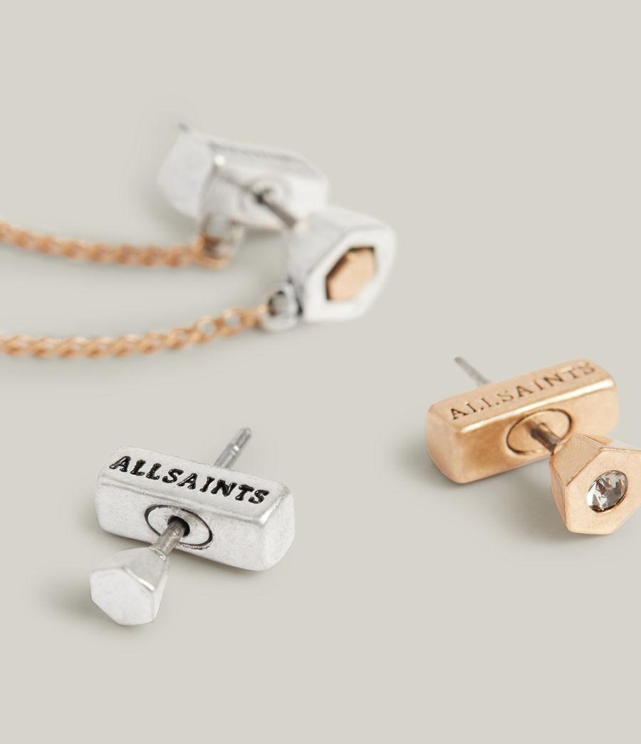 Damen Thora Earrings (warm_brass_silver) - Image 1