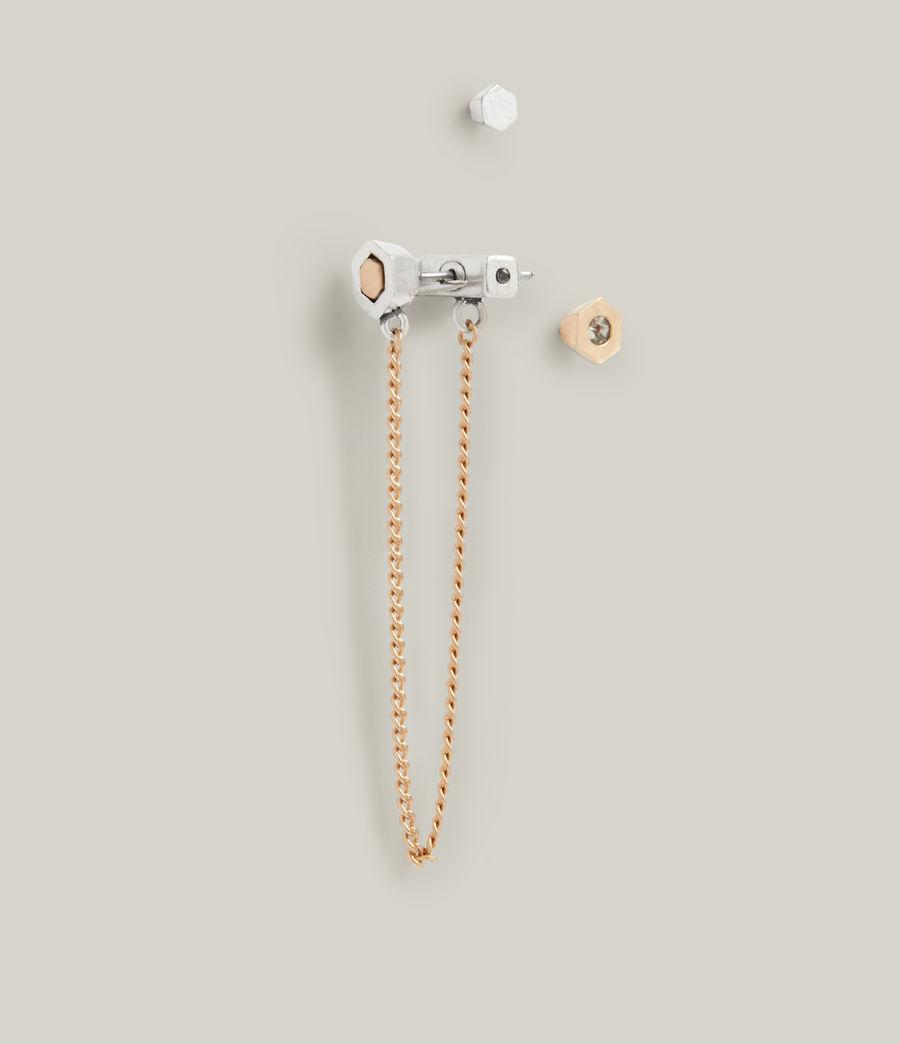 Damen Thora Earrings (warm_brass_silver) - Image 2