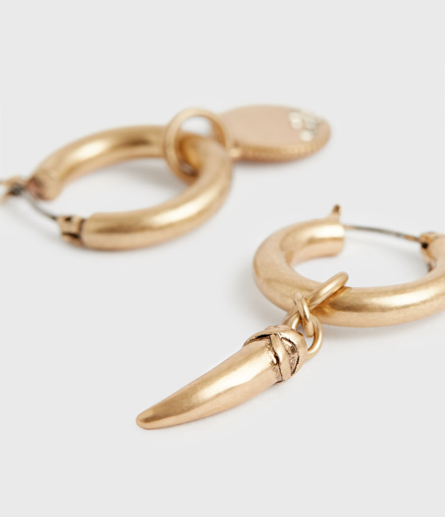 Women's Isla Gold-Tone Huggie Earrings (black_warm_brass) - Image 1