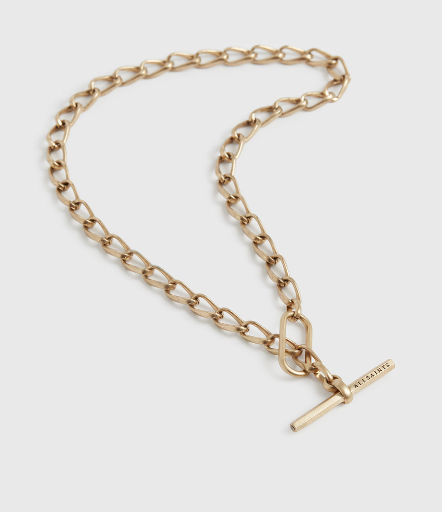 Women's Eartha Gold-Tone Chain Necklace (warm_brass) - Image 2