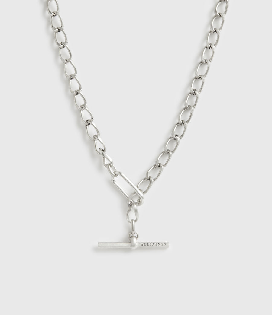 Womens Eartha Silver-Tone Chain Necklace (warm_silver) - Image 1