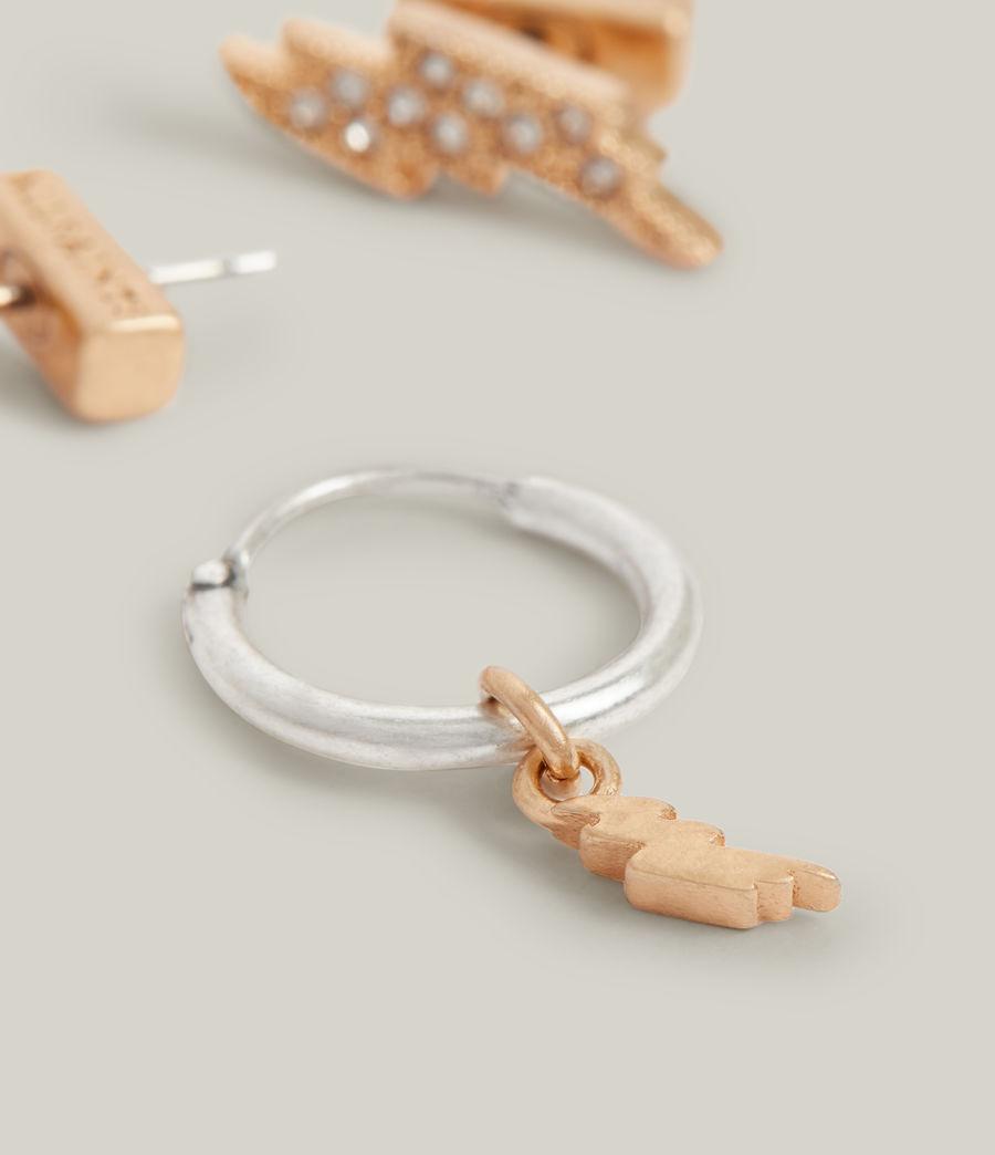 Women's Aurora Earrings (warm_brass_silver) - Image 1