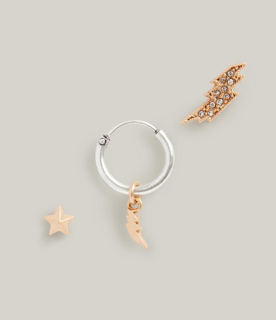 Women's Aurora Earrings (warm_brass_silver) - Image 2