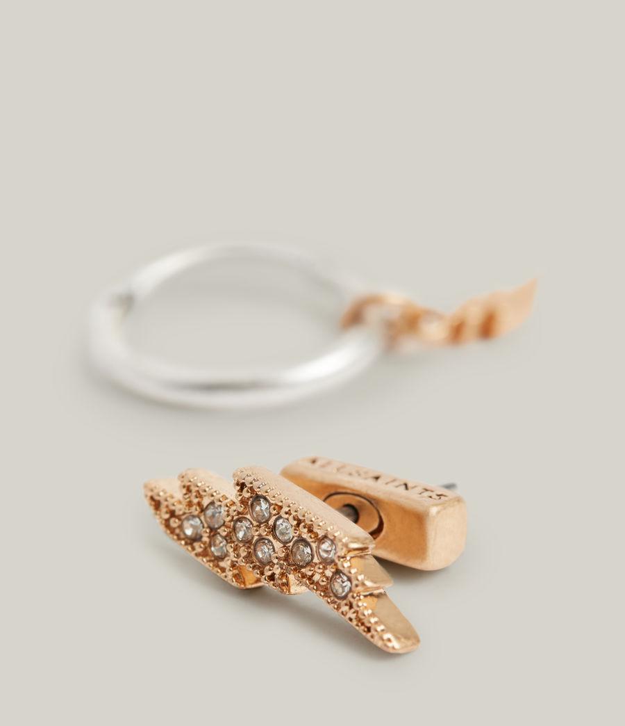 Women's Aurora Earrings (warm_brass_silver) - Image 3