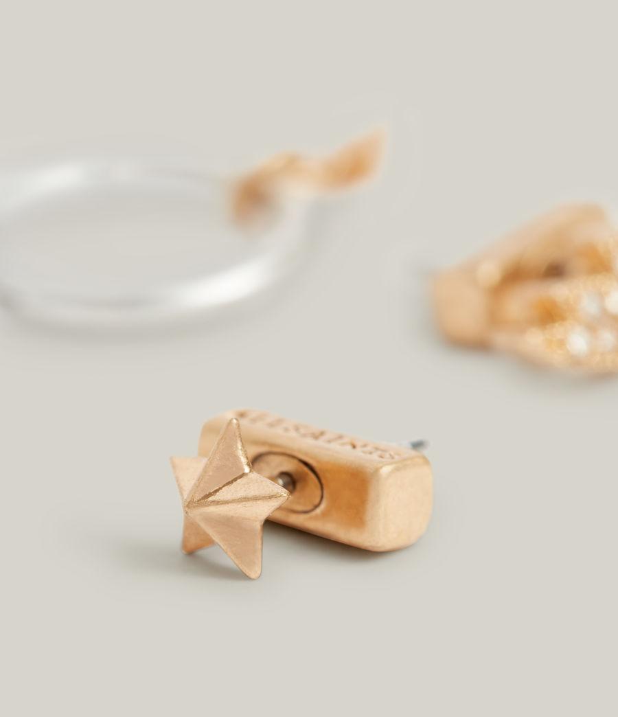 Women's Aurora Earrings (warm_brass_silver) - Image 4