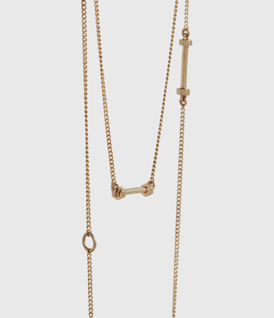 Women's Annika Gold-Tone Necklace (warm_brass) - Image 3