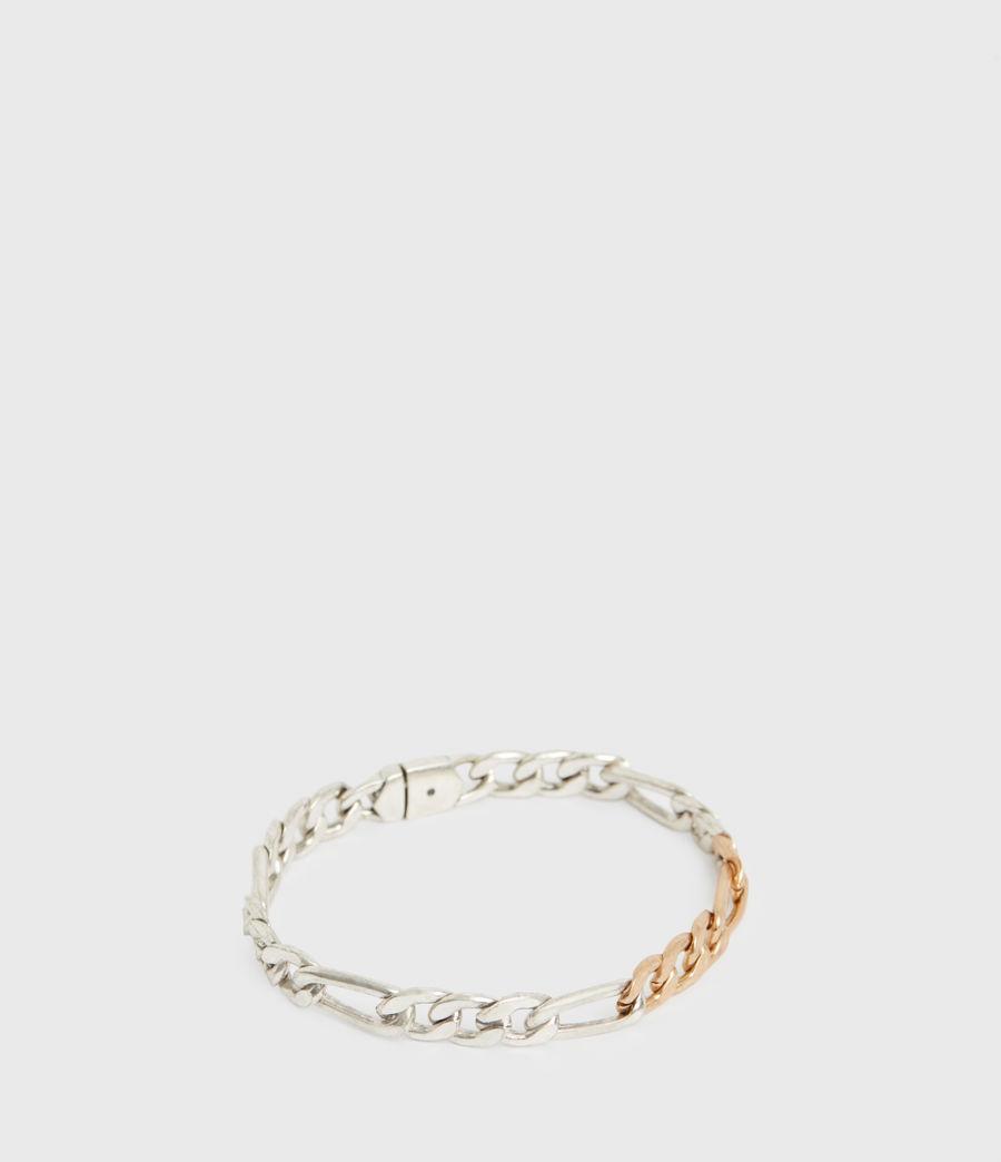 Women's Mix Chain Link Bracelet (wrm_brss_wrm_silvr) - Image 2