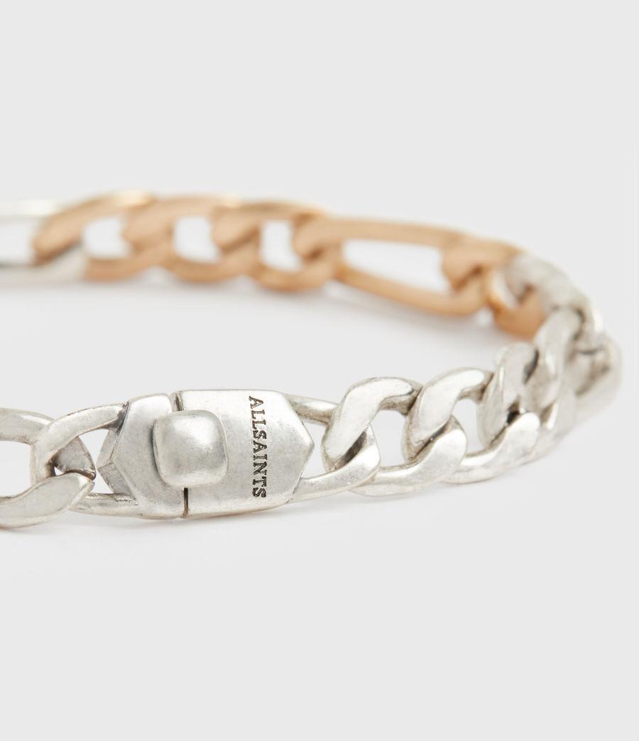 Women's Mix Chain Link Bracelet (wrm_brss_wrm_silvr) - Image 3