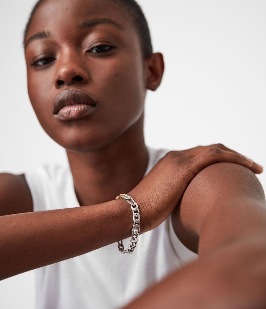 Women's Mix Chain Link Bracelet (wrm_brss_wrm_silvr) - Image 4