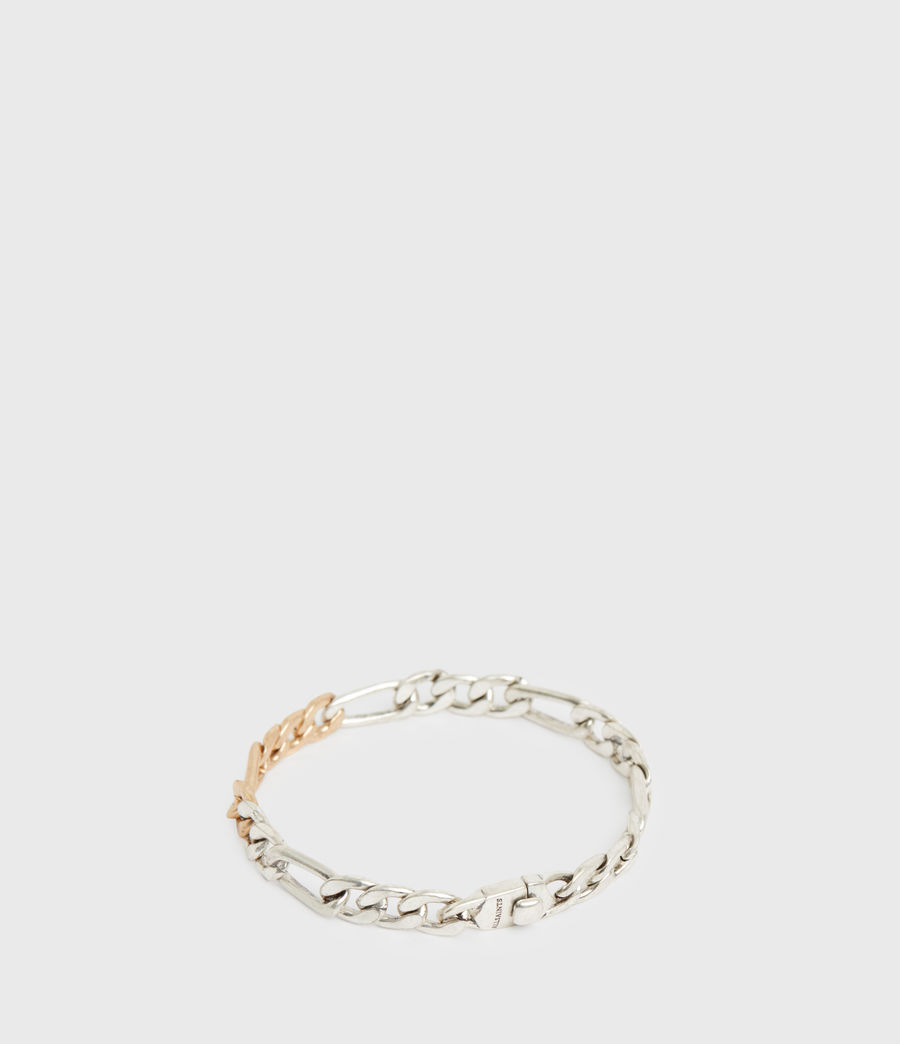 Women's Mix Chain Link Bracelet (wrm_brss_wrm_silvr) - Image 5