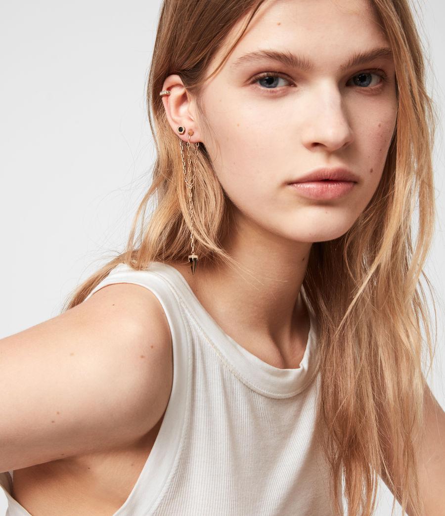Womens Bijou Gold-Tone Smokey Quatyz Ear Cuff Earring Set (smky_qrtz_wrm_brss) - Image 1