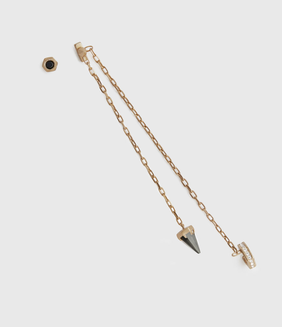 Womens Bijou Gold-Tone Smokey Quatyz Ear Cuff Earring Set (smky_qrtz_wrm_brss) - Image 4