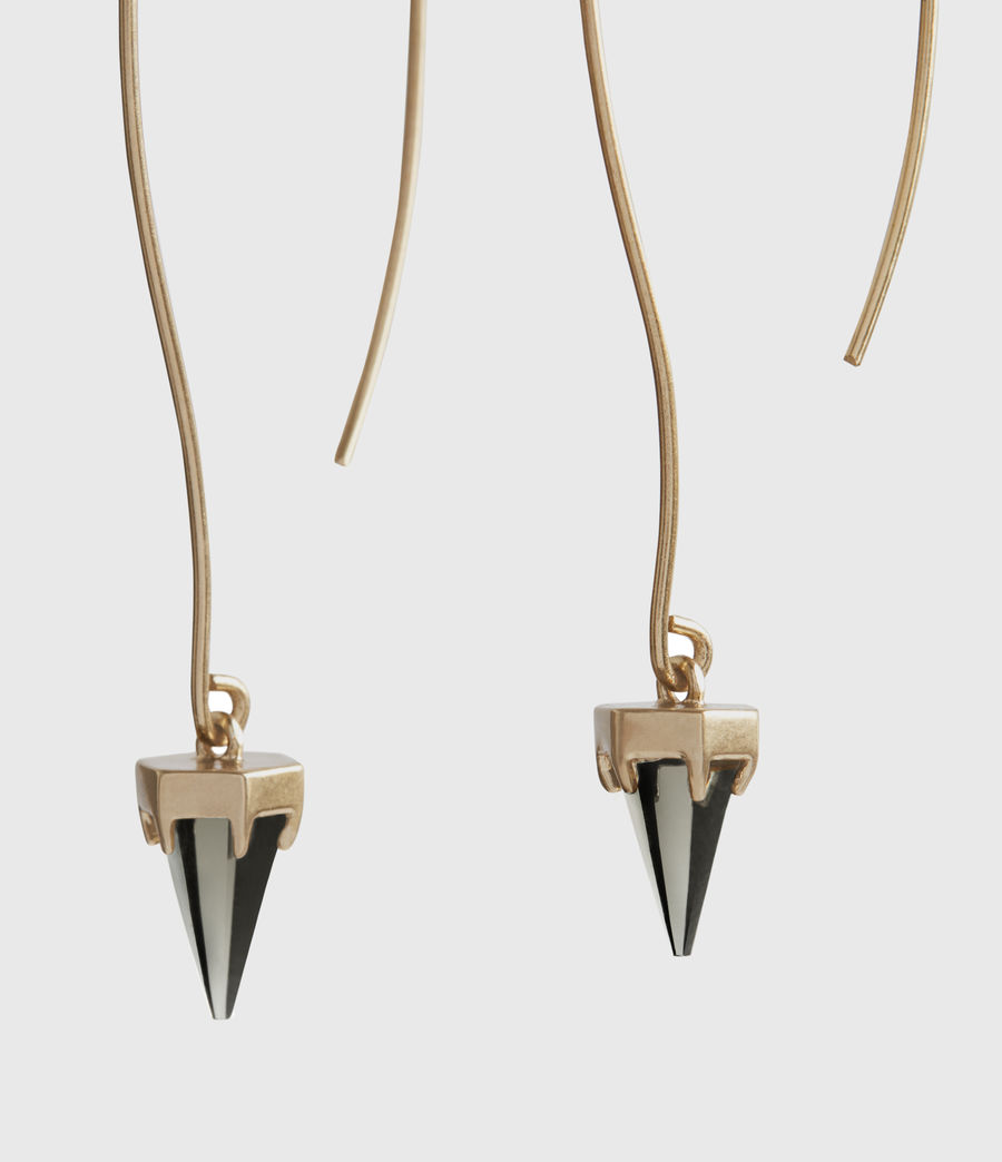 Womens Brigitte Gold-Tone Smokey Quartz Drop Earrings (smky_qrtz_wrm_brss) - Image 3