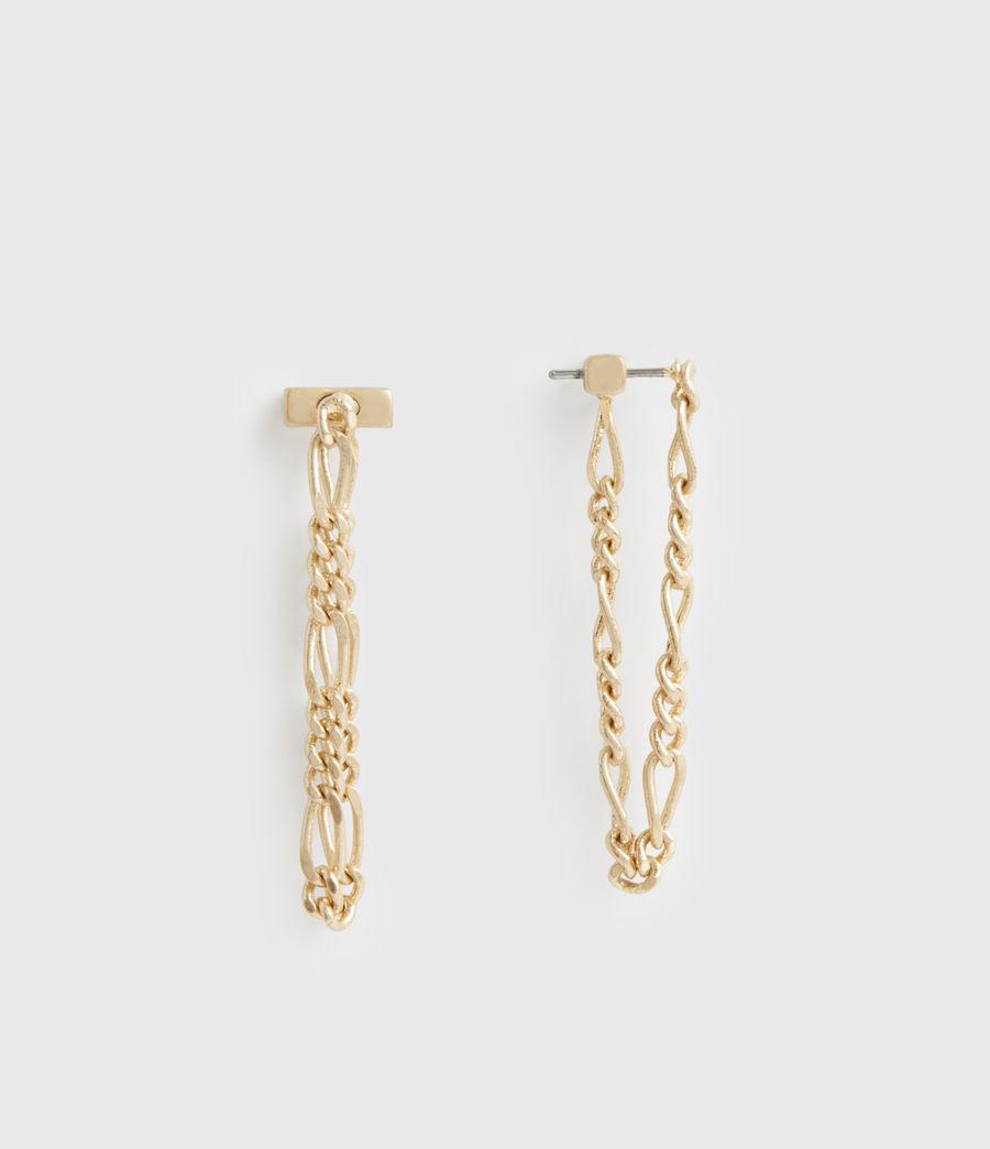 Damen Swag Gold-Tone Chain Earrings (warm_brass) - Image 2