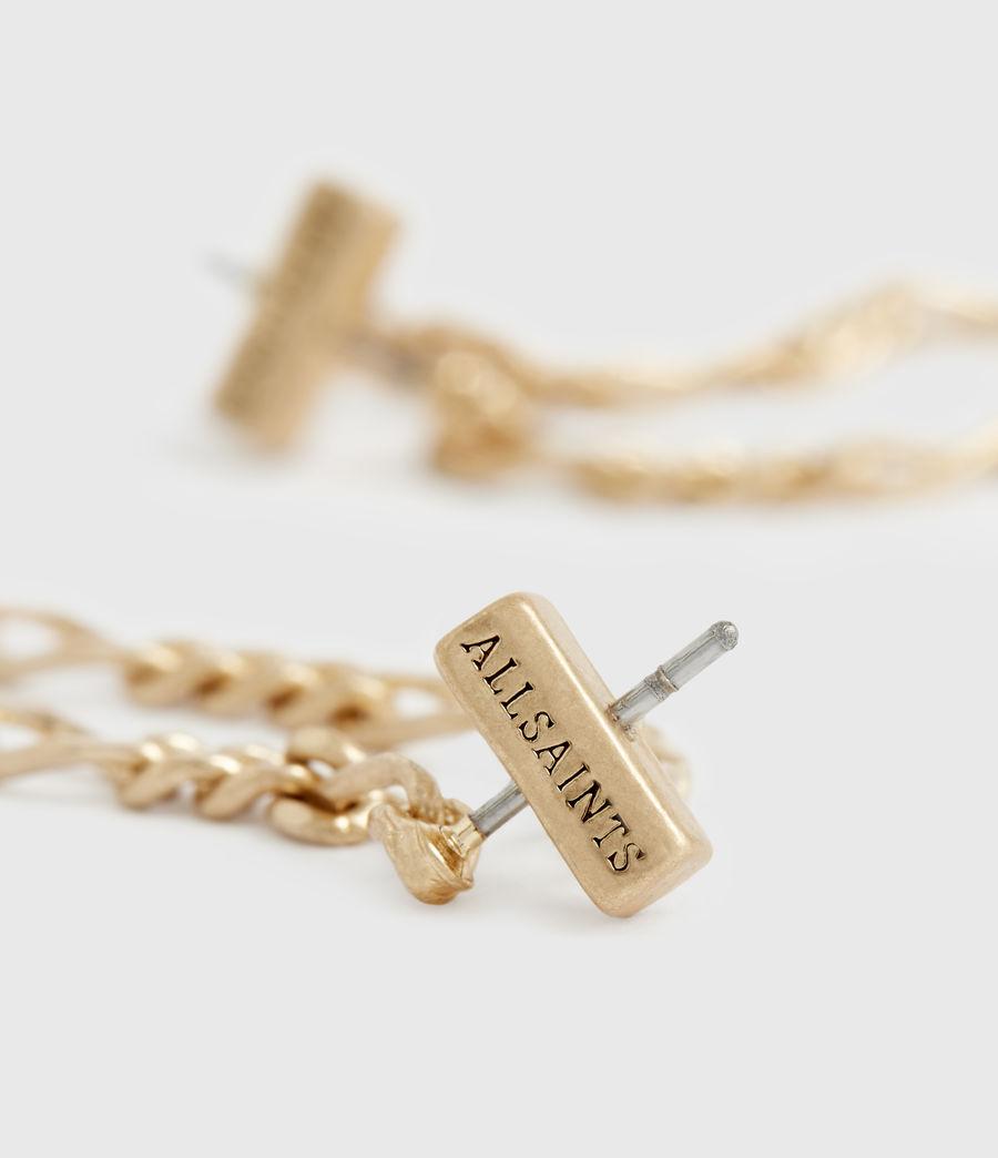 Damen Swag Gold-Tone Chain Earrings (warm_brass) - Image 4