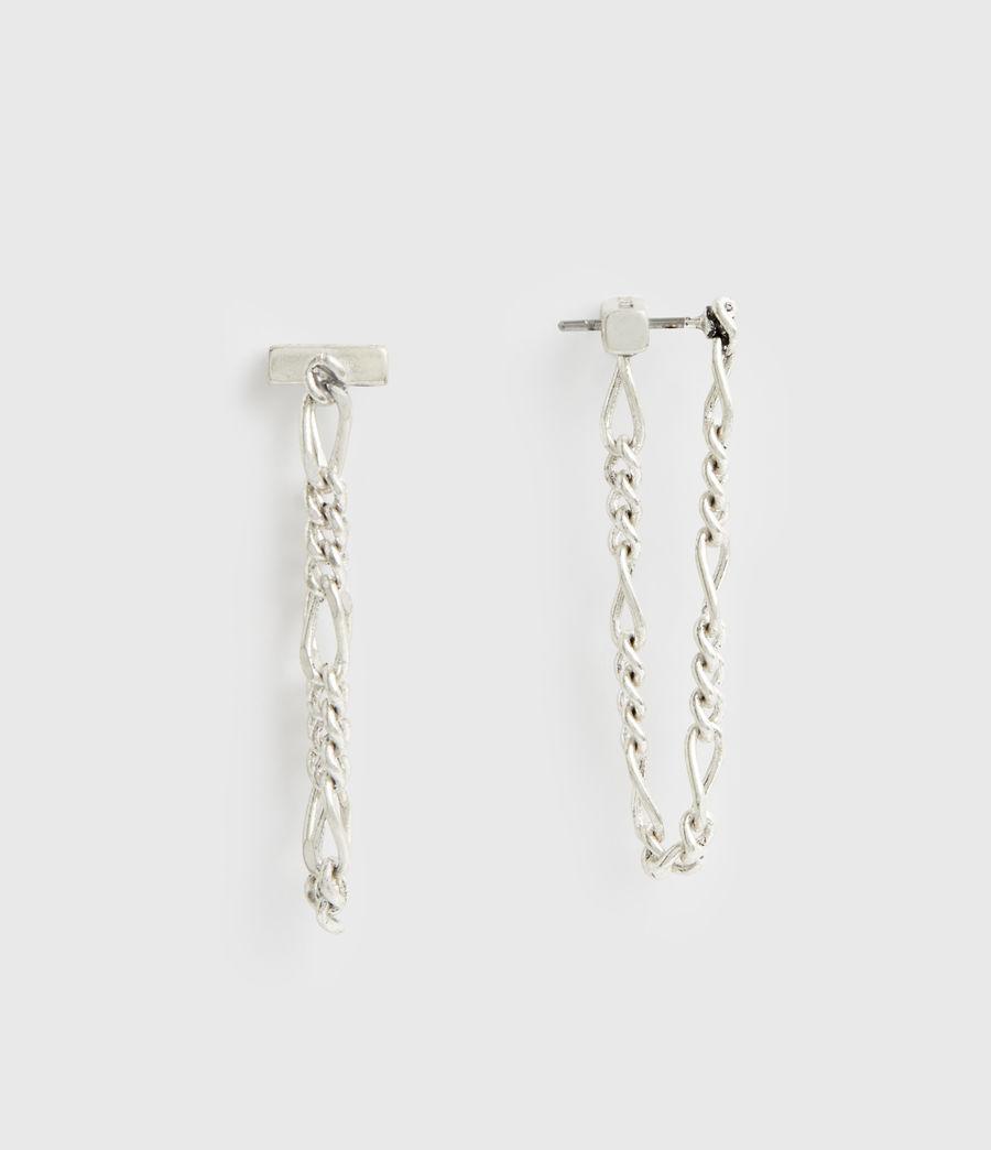 Women's Swag Silver-Tone Chain Earrings (warm_silver) - Image 1