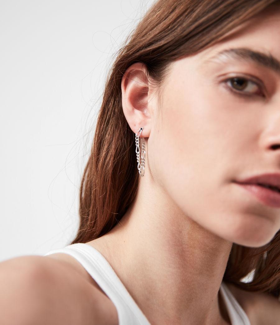 Women's Swag Silver-Tone Chain Earrings (warm_silver) - Image 2