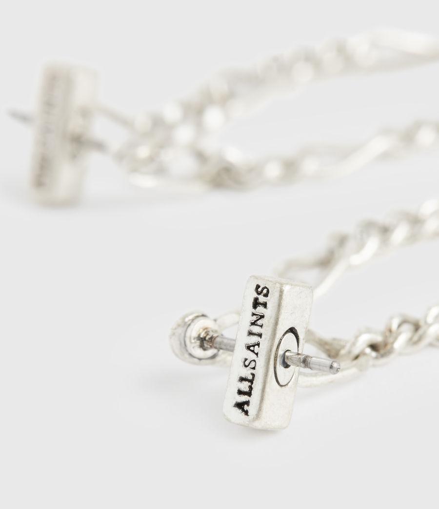 Women's Swag Silver-Tone Chain Earrings (warm_silver) - Image 4