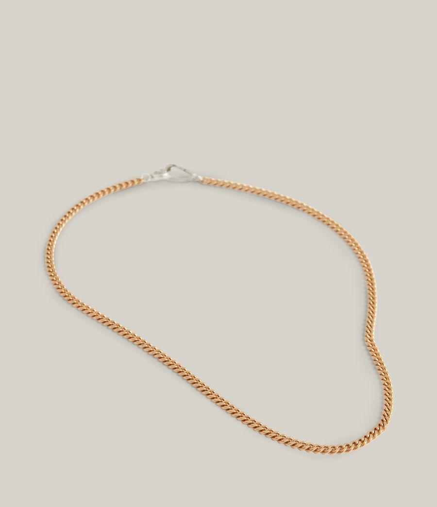 Women's Elena Necklace (warm_brass_silver) - Image 2