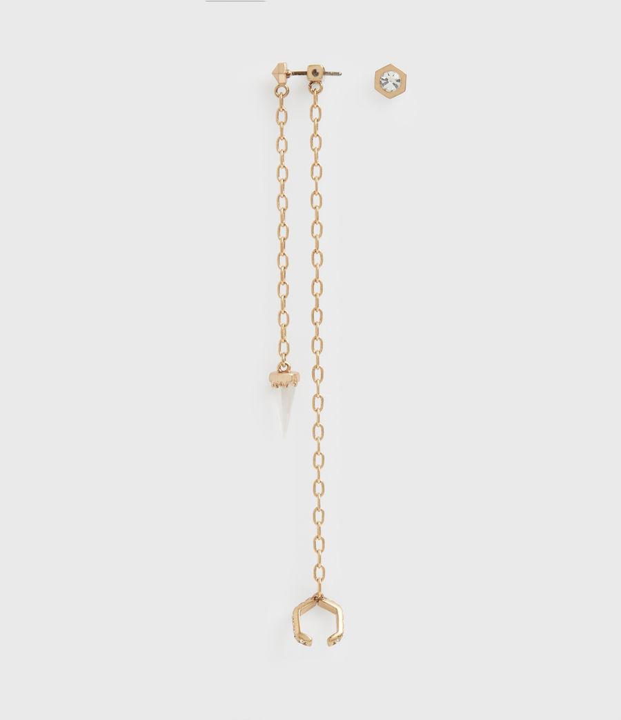 Women's Bijou Gold-Tone Ear Cuff (crystal_warm_brass) - Image 3
