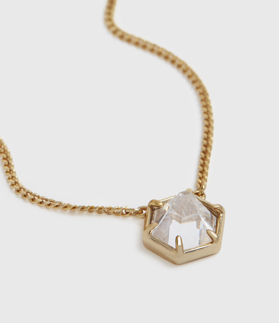 Womens Kimona Gold-Tone Necklace (crystal_warm_brass) - Image 1