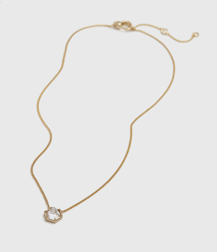 Womens Kimona Gold-Tone Necklace (crystal_warm_brass) - Image 2