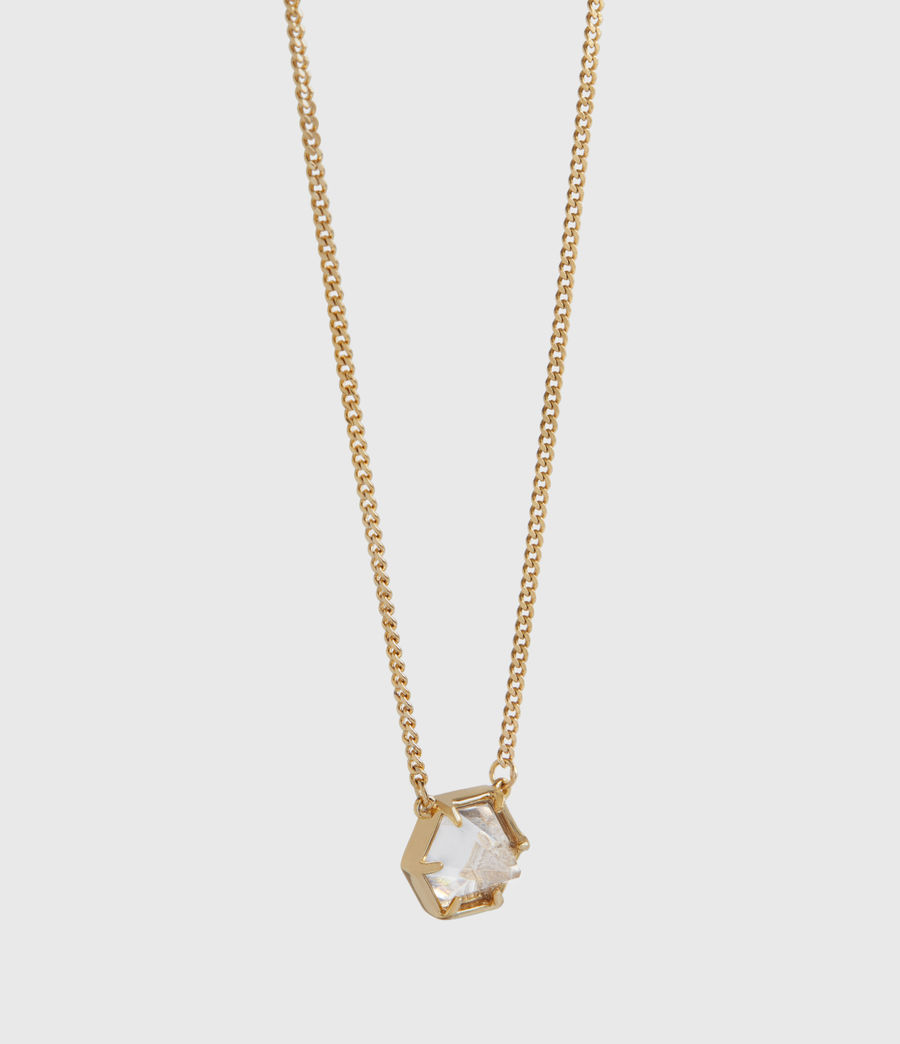 Womens Kimona Gold-Tone Necklace (crystal_warm_brass) - Image 3