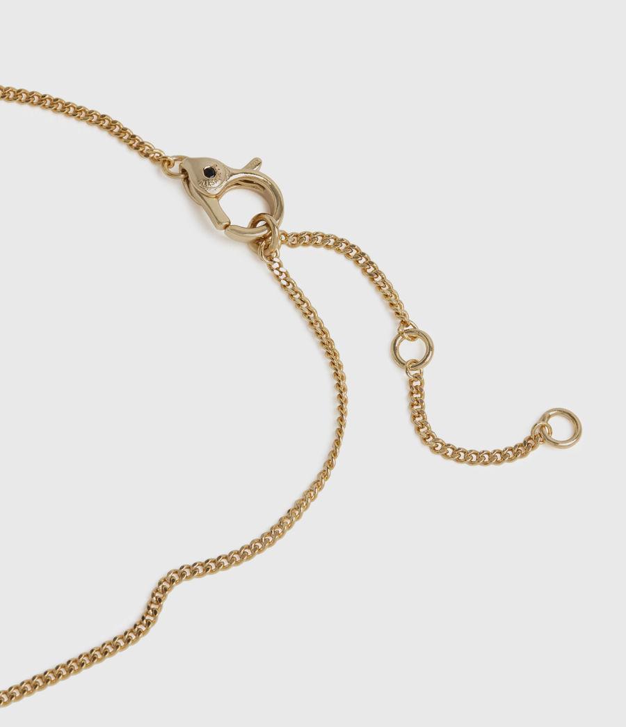 Womens Kimona Gold-Tone Smokey Quartz Necklace (smky_qrtz_wrm_brss) - Image 5