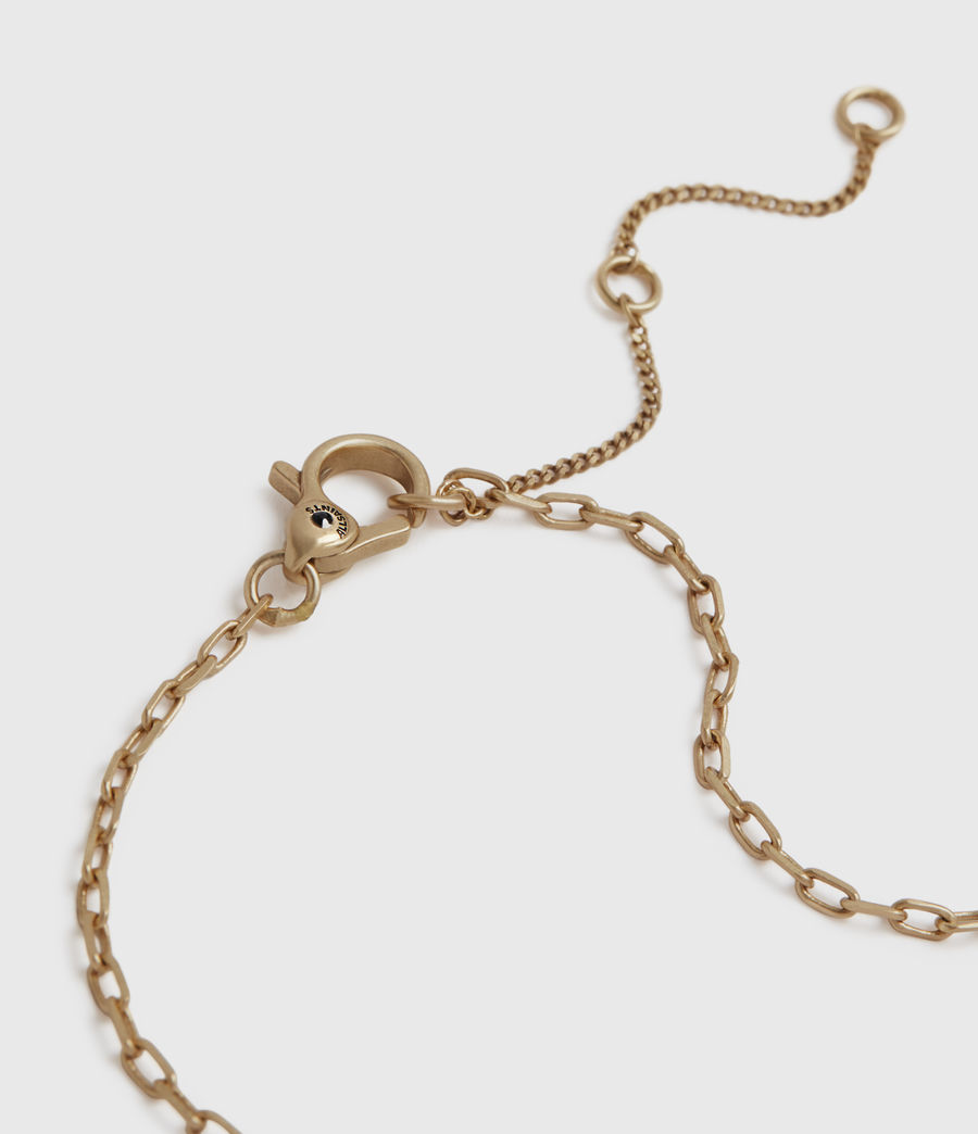 Women's Novia Gold-Tone Smokey Quartz Pendant Necklace (smky_qrtz_wrm_brss) - Image 4
