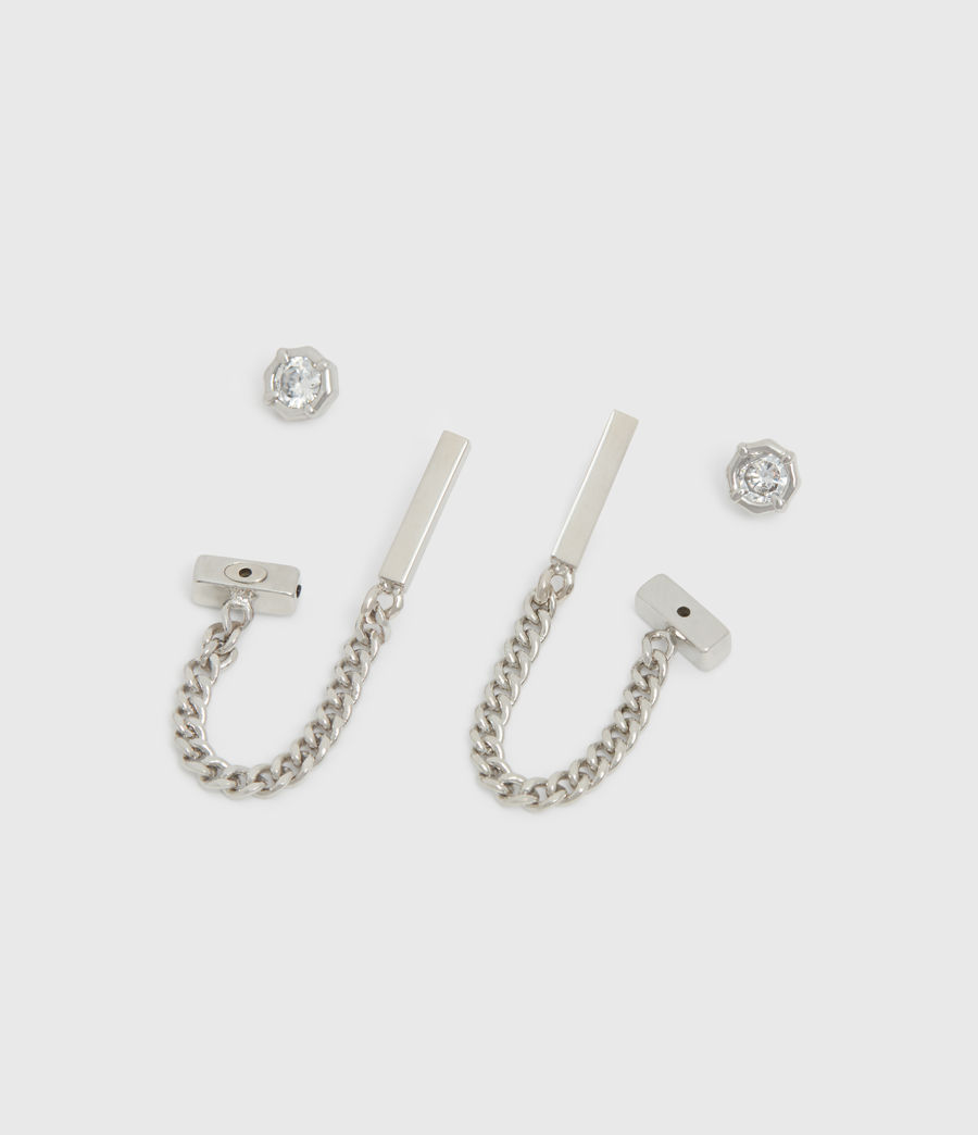 Women's Suri Silver Tone Cubic Zirconia Earring Set (rhodium) - Image 2