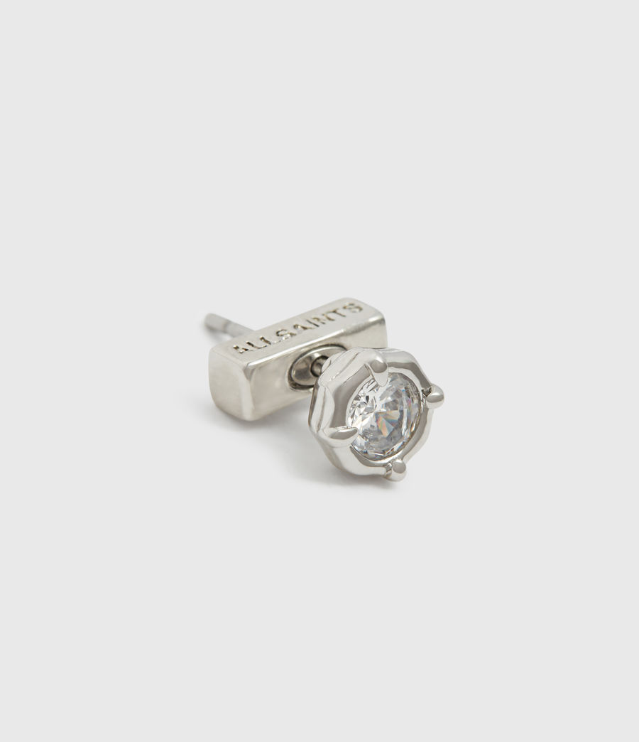 Womens Suri Silver Tone Cubic Zirconia Earring Set (rhodium) - Image 3