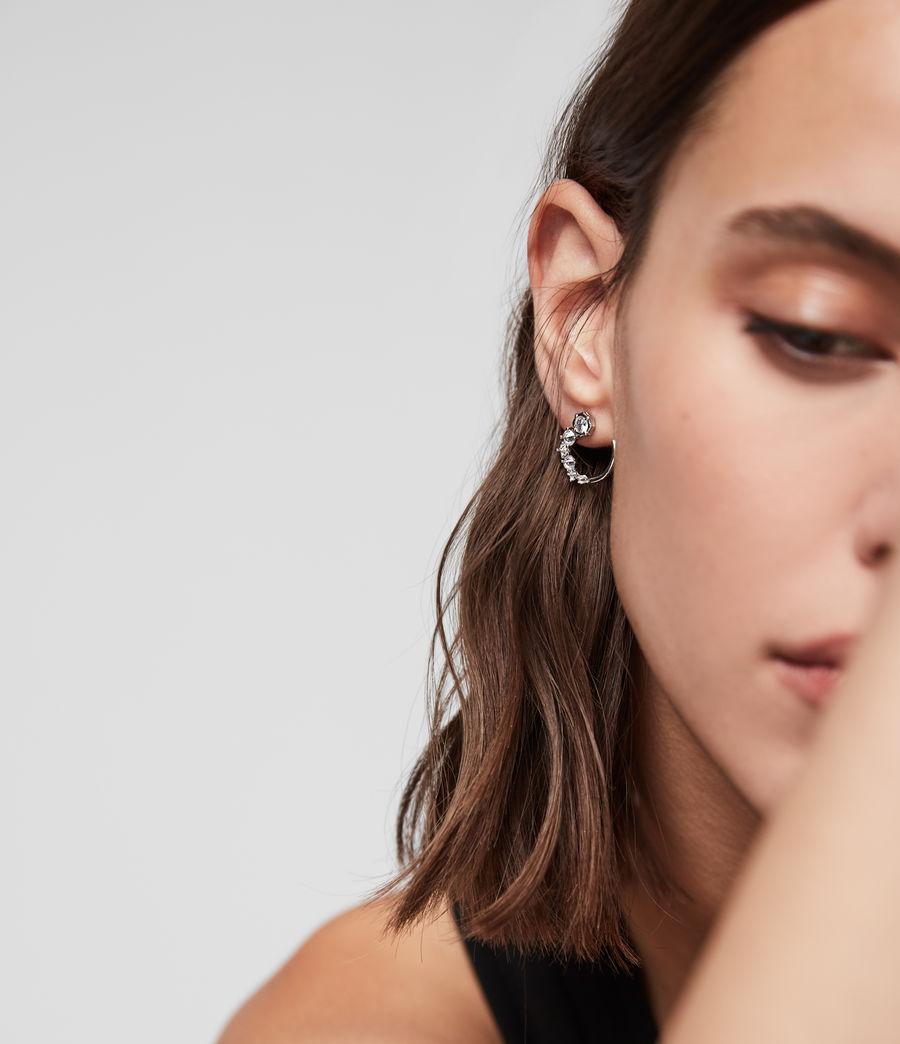 Womens Uli Silver Tone Cubic Zirconia Earrings (rhodium) - Image 1