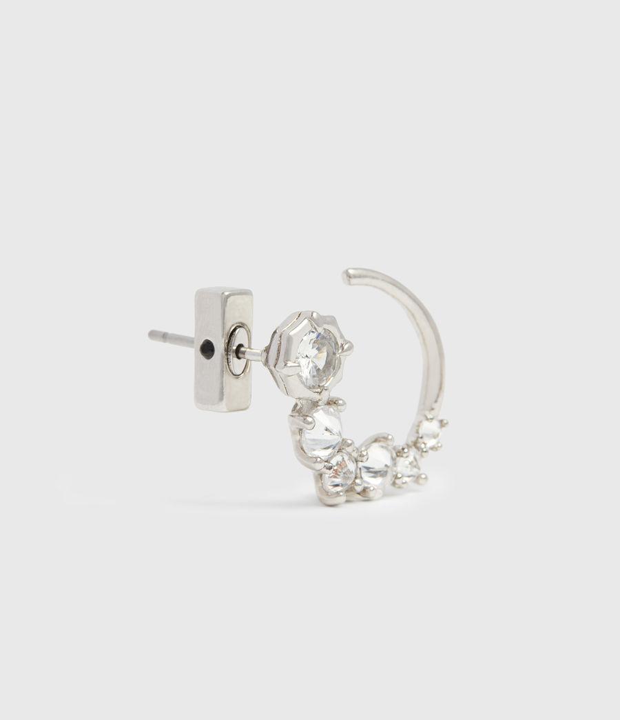 Womens Uli Silver Tone Cubic Zirconia Earrings (rhodium) - Image 3