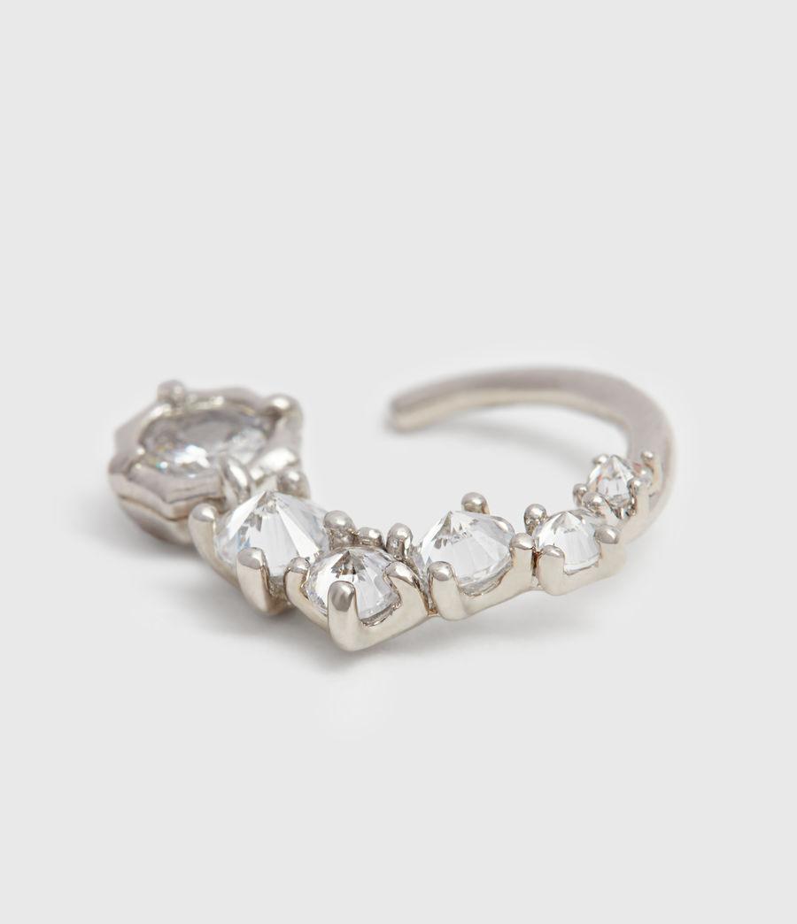 Womens Uli Silver Tone Cubic Zirconia Earrings (rhodium) - Image 4