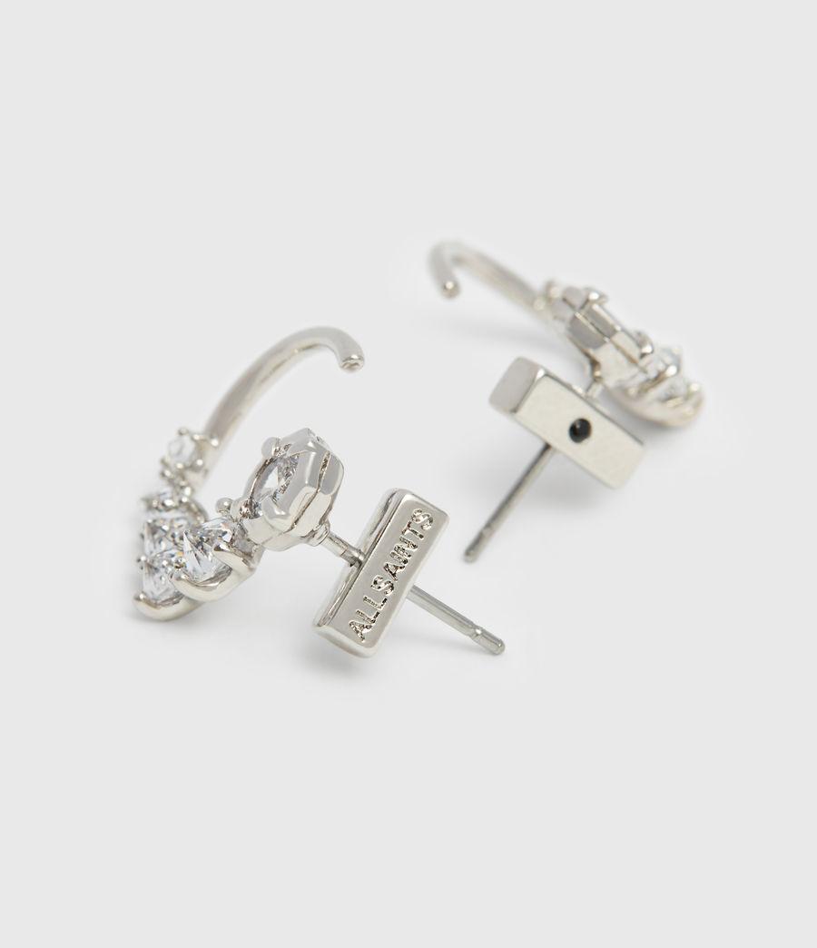 Womens Uli Silver Tone Cubic Zirconia Earrings (rhodium) - Image 5