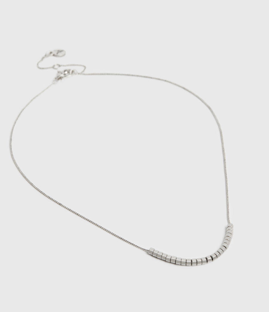 Womens Amur Silver-Tone Necklace (warm_silver) - Image 3